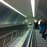 Photo taken at Hacıosman Metro İstasyonu by Merve K. on 1/4/2012