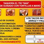 Photo taken at Tacos•Huaraches•Quesadillas•Tortas de Guisado Tío San, Los Mejores by Ricardo M. on 1/15/2012