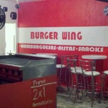Photo taken at Burger Wing by Miguel R. on 4/28/2012