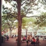 Photo taken at Davis Square by Tim O. on 8/22/2012