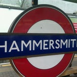 Photo taken at Hammersmith London Underground Station (Circle and H&C lines) by Kathy M. on 1/23/2012