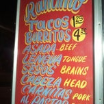 Photo taken at El Ranchito Taco Truck by Daniel R. on 1/27/2012