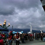 Photo taken at Jack Poole Plaza by John R. on 7/1/2012