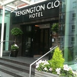 Photo taken at Kensington Close Hotel by Adeline W. on 7/7/2012