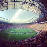 Photo taken at ОСК «Металіст» / Metalist Stadium by Anastasia on 6/9/2012
