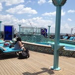 Photo taken at Carnival Legend Serenity Deck! Adults Only by Colleen M. on 4/11/2012