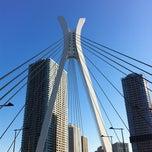 Photo taken at 中央大橋 by Masashi S. on 2/20/2012