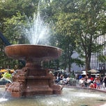 Photo taken at Bryant Park - The Reading Room by Kimberly B. on 7/24/2012