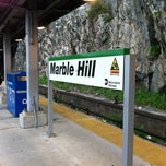 Photo taken at Metro North - Marble Hill Train Station by Michael C. on 5/14/2012