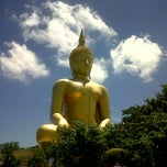 Photo taken at วัดม่วง (Wat Muang) by NÜnii P. on 7/10/2012
