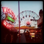 Photo taken at Deno's Wonder Wheel by Derek B. on 4/13/2012