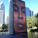 Photo taken at Crown Fountain by Steve L. on 5/10/2012