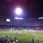 Photo taken at Free State Stadium (Vodacom Park) by Marius R. on 8/17/2012