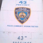 Photo taken at NYPD - 43rd Precinct by Darius H. on 4/11/2012