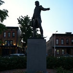 Photo taken at O'Donnell Square (Canton Square) by Pam M. on 7/7/2012