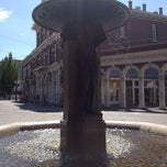 Photo taken at Skidmore Fountain by Matt B. on 8/9/2012