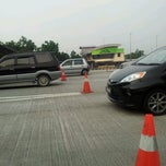 Photo taken at Plaza Tol Bukit Jelutong by S M Sabri I. on 8/14/2012