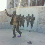 Photo taken at Joe Paterno Statue by Jessica on 4/7/2012