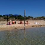 Photo taken at Capo Testa Spiaggia di Levante by Paola M. on 8/4/2012