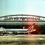 "Photo taken at Aeroporto di Milano Linate ""Enrico Forlanini"" (LIN) by Boaz S. on 2/21/2012"