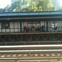 Photo taken at MTA Subway - Marcy Ave (J/M/Z) by Julie O. on 8/2/2012