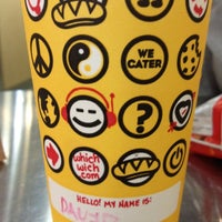Photo taken at Which Wich? Superior Sandwiches by david l. on 5/10/2012