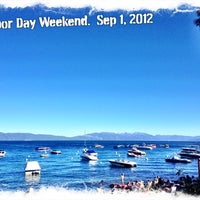 Photo taken at Tahoe Park Homeowners Beach by Matthew K. on 9/2/2012