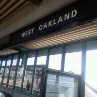 Photo taken at West Oakland BART Station by Jonny B. on 10/16/2011
