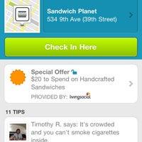 Photo taken at Sandwich Planet by Sebastian R. on 10/3/2011