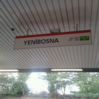 Photo taken at Yenibosna Metro İstasyonu by Halil T. on 8/17/2012