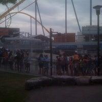 Photo taken at Backlot Stunt Coaster by Jake K. on 8/31/2011