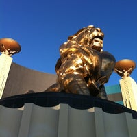 Photo taken at MGM Grand Lion Statue by Helder C. on 2/24/2012