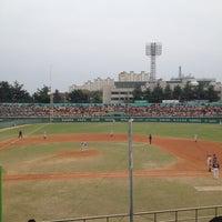 Photo taken at Cheongju Baseball Stadium by Kent C. on 4/29/2012