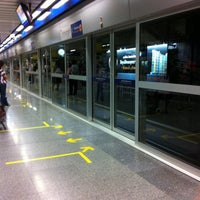Photo taken at MRT Chatuchak Park (CHA) by Ching N. on 10/12/2012