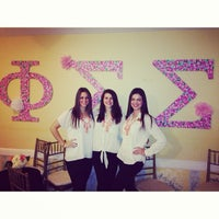 Photo taken at Phi Sigma Sigma by Hannah M. on 1/18/2014