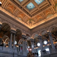 Photo taken at Library of Congress - John Adams Building by Qin L. on 12/30/2013
