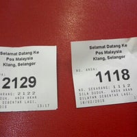 Photo taken at Post Office Klang by Raymond M. on 2/18/2016
