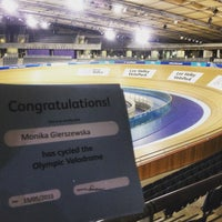 Photo taken at London 2012 Velodrome by Monika G. on 5/15/2015
