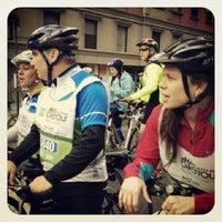 Photo taken at Five Boro Bike Tour by Allison W. on 5/6/2013