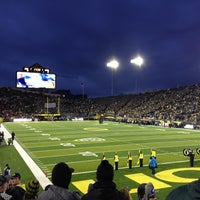 Photo taken at Autzen Stadium by Marshall G. on 11/18/2012