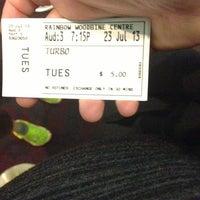 Photo taken at Rainbow Cinema Woodbine by Karen L. on 7/23/2013