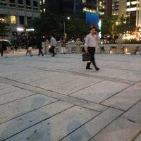 Photo taken at 광통교 by Yoonseok H. on 9/27/2013