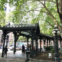 Photo taken at Pioneer Square Pergola by Jim W. on 7/1/2016