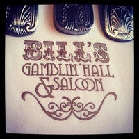 Photo taken at Bill's Gamblin' Hall & Saloon by Andrea on 4/8/2013