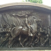 Photo taken at Robert Gould Shaw Memorial by Bill D. on 8/22/2015