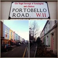 Photo taken at Portobello Road by Peter B. on 1/27/2013