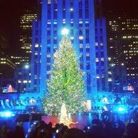 Photo taken at Rockefeller Center Christmas Tree by Richard G. on 11/29/2012