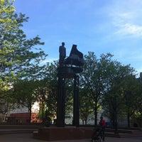 Photo taken at Duke Ellington Memorial by Robert Graham by Fernanda R. on 5/10/2013