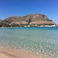 Photo taken at Spiaggia di Mondello by Massimiliano N. on 10/6/2012