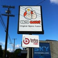 Photo taken at White Rabbit Fusion Cafe/Boba Truck Cafe by Jesse F. on 11/18/2012